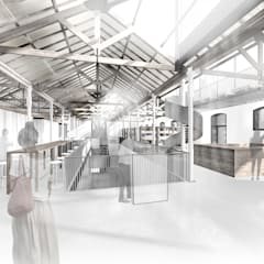 Proyecto para un Centro Cultural : Estudios y despachos de estilo  de Guillermo Santos Arquitectura