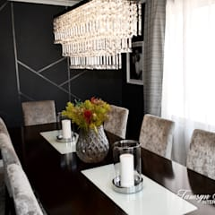 Dining in style:  Dining room by Tamsyn Fowler Interiors