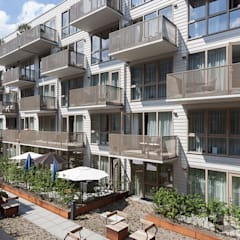 Seniorenwoningen Oostpoort:  Tuin door TEKTON architekten