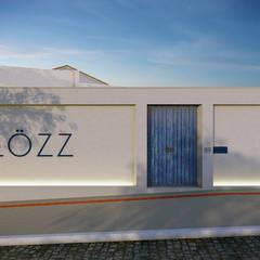 SHOWROOM LÖZZ - PRADO | BELO HORIZONTE Lojas & Imóveis comerciais tropicais por RAFE Arquitetura e Design Tropical Madeira Efeito de madeira