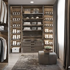 Traditional american apartment: Гардеробные в . Автор – Diff.Studio,