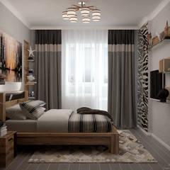 Дизайн спальни в квартире (два варианта) по ул. Кореновская, г.Краснодар: Спальни в . Автор – Студия интерьерного дизайна happy.design,