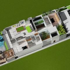 Casa Marina: Salas multimedia de estilo  por Arturo Santander Arquitectos, Minimalista