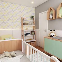 Cuarto del bebé de estilo  por Nova Arquitetura e Interiores