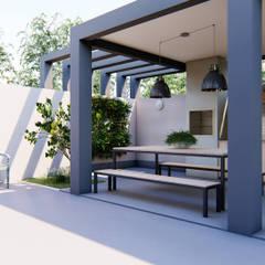 Balcón de estilo  por Nova Arquitetura e Interiores,