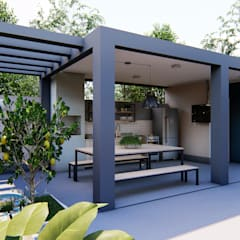 Nova Arquitetura e Interiores의  발코니