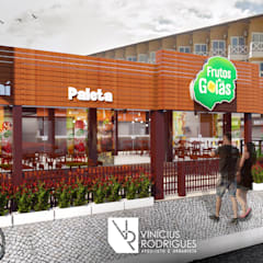 Sorveteria Frutos de Goiás: Espaços gastronômicos  por Vinícius Rodrigues   Arquiteto e Urbanista,Rústico