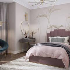 Habitaciones juveniles de estilo  por GLAZOV design group концептуальная студия дизайна интерьеров