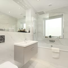 Finchley Central :  Bathroom by New Images Architects