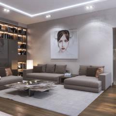 ХАРИЗМА ЛИДЕРА: Гостиная в . Автор – GLAZOV design group концептуальная студия дизайна интерьеров