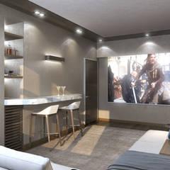 Концептуальная студия дизайна интерьеров GLAZOV design group:  tarz Multimedya Odası