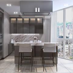 ХАРИЗМА ЛИДЕРА: Кухни в . Автор – GLAZOV design group концептуальная студия дизайна интерьеров