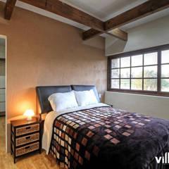 Casa Cantera en San Miguel de Allende: Recámaras de estilo  por VillaSi Construcciones