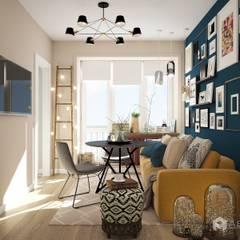 Salas de estilo  por Архитектурная студия 'АВТОР'