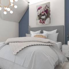 Проект загородного дома для молодой семьи: Спальни в . Автор – CLAIRRESTUDIO