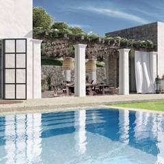 สระว่ายน้ำ โดย architetto stefano ghiretti, ผสมผสาน