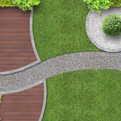 Jardins de fachada  por Klausroom