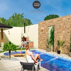 Proyecto Nuevo México: Albercas de jardín de estilo  por Vintark arquitectura
