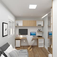 غرف نوم صغيرة تنفيذ Aline Mozzer Arquitetura