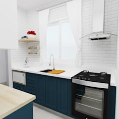 Kitchen units by Aline Mozzer Arquitetura