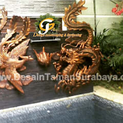 Tukang Taman: Dinding oleh Tukang Taman Surabaya - Tianggadha-art, Klasik Batu Pasir