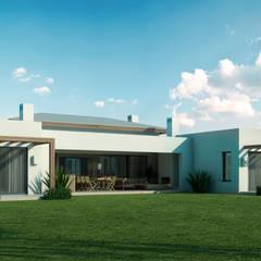 Casa en Pilara: Casas de estilo  por SB arquitectura
