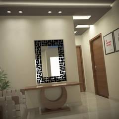 شاليه بالسخنه فندقى :  الممر والمدخل تنفيذ Raqy Designers & contractors