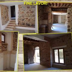 Restauro Vecchia Falegnameria: Pareti in stile  di Edil Ranzato