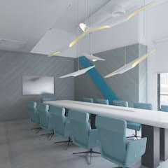 Minimalist Office Design:  Commercial Spaces by MG Design