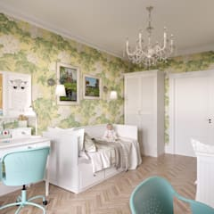 Квартира в стиле Прованс: Детские комнаты в . Автор – B&D,