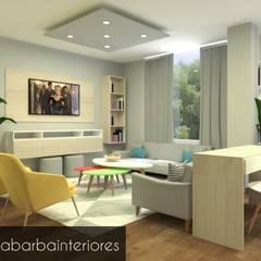 Diseño Residencial: Salas / recibidores de estilo  por Irenya Barba - Diseño de Interiores