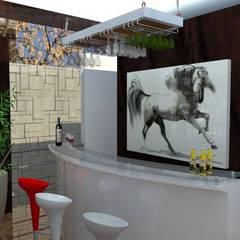 Terraza bar: Terrazas de estilo  por ROQA.7 ARQUITECTOS