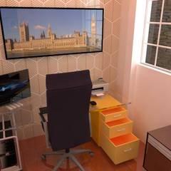 Vivienda Wan: Oficinas de estilo  por ROQA.7 ARQUITECTOS,