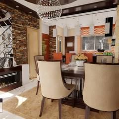 Vivienda bifamiliar GC: Comedores de estilo  por ROQA.7 ARQUITECTOS