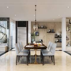 Hơi thở hiện đại cho Thiết kế nội thất Villa sành điệu hơn - ICON INTERIOR:  Phòng ăn by ICON INTERIOR,