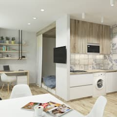 Cocinas pequeñas de estilo  por ARTWAY центр профессиональных дизайнеров и строителей,