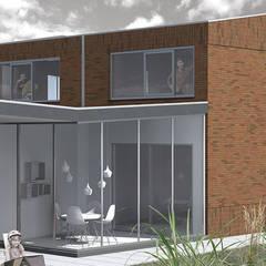 Twee-onder-een-kapwoning:  Serre door TEKTON architekten