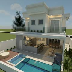 CASA L.D: Casas familiares  por Isa De La Volpe • Arquitetura • Interiores • Construção,Clássico