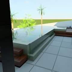 Kolam renang infinity by Isa De La Volpe • Arquitetura • Interiores • Construção