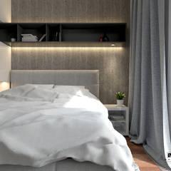 Przytulna sypialnia: styl , w kategorii Małe sypialnie zaprojektowany przez MJanimo sp. z o.o
