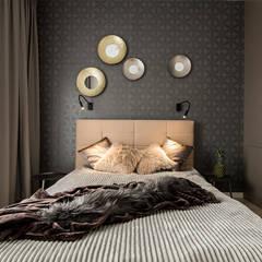 ŚNIADANIE NA MOKOTOWIE: styl , w kategorii Sypialnia zaprojektowany przez KODO projekty i realizacje wnętrz
