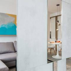 LUNCH NA MOKOTOWIE: styl , w kategorii Salon zaprojektowany przez KODO projekty i realizacje wnętrz