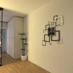 Interiorismo de Monoambiente en Recoleta por 3G Arquimundo: Pasillos y recibidores de estilo  por Arquimundo 3g - Diseño de Interiores - Ciudad de Buenos Aires