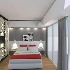 Monoambiente - Recoleta: Dormitorios de estilo  por Arquimundo 3g - Diseño de Interiores - Ciudad de Buenos Aires