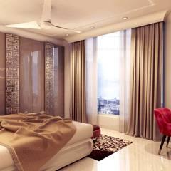 Dormitorios pequeños de estilo  por MAPLE studio design