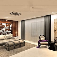 MAPLE studio design의  작은 침실