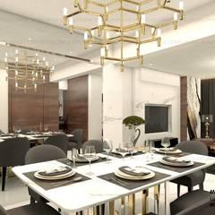 luxury interiors by Maple studio design:  Dining room by MAPLE studio design