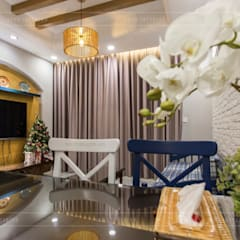 THỰC TẾ CĂN HỘ PHONG CÁCH ĐỊA TRUNG HẢI :  Phòng khách by ICON INTERIOR