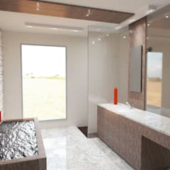 Diseño de Interior para Baño Estilo Minimalista : Baños de estilo  por Vision Arquitectura Estudio