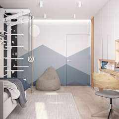 Habitaciones infantiles de estilo  por Дизайн Студия Katushhha, Minimalista
